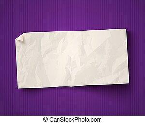arrière-plan., blanc, papier, vieux, annonce