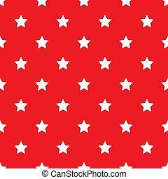 arrière-plan., blanc, seamless, étoiles, rouges