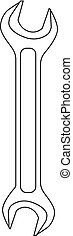 arrière-plan., blanc, vecteur, clé, isolé