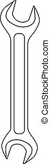arrière-plan., blanc, vecteur, isolé, clé