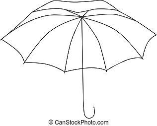 arrière-plan., blanc, vecteur, parapluie, illustration