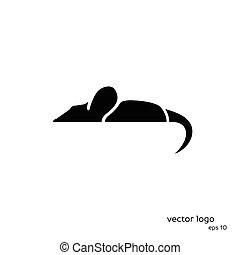 arrière-plan., blanc, vecteur, souris, illustration