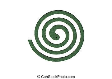 arrière-plan., blanc, vert, spirale, moustique