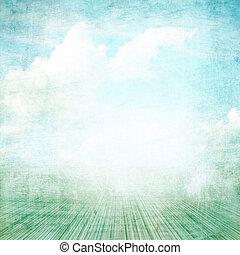 arrière-plan bleu, album, photo