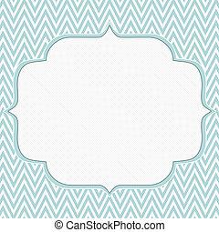 arrière-plan bleu, cadre, zigzag, chevron, blanc