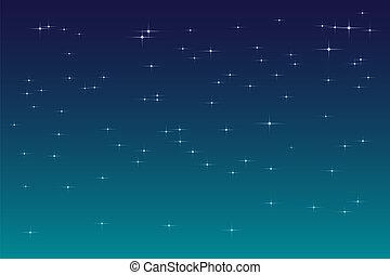 arrière-plan bleu, ciel, sombre, étoiles, nuit