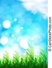 arrière-plan bleu, ciel, vecteur