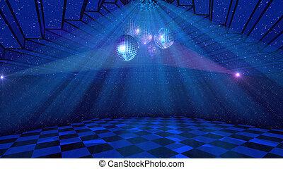 arrière-plan bleu, disco
