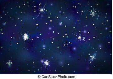arrière-plan bleu, espace, constellations, clair, profond, étoiles
