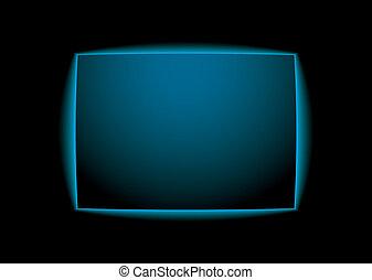 arrière-plan bleu, lueur