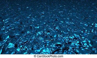 arrière-plan bleu, lumière, résumé