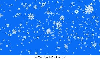 arrière-plan bleu, neige, boucle