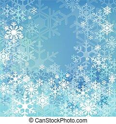 arrière-plan bleu, neige
