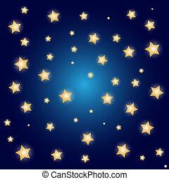 arrière-plan bleu, or, étoiles