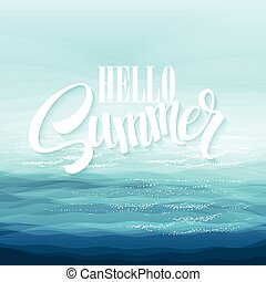 arrière-plan bleu, résumé, créativité, illustration, vecteur, conception, mer, vagues