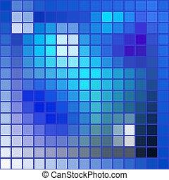 arrière-plan bleu, résumé, -, texture, vecteur, tonalités, carrés, mosaïque