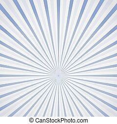 arrière-plan bleu, rayons, soleil
