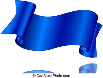 arrière-plan bleu, ruban, blanc
