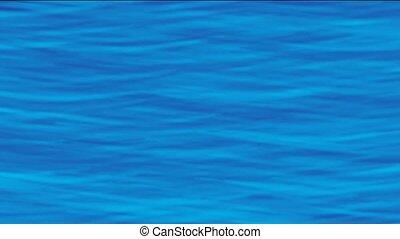 arrière-plan bleu, surface, vague