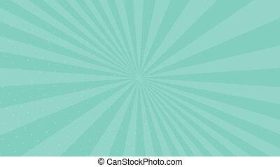 arrière-plan bleu, vidéo, animation