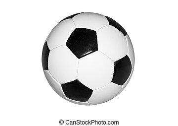 arrière-plan., boule blanche, isolé, football