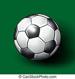 arrière-plan., boule football, vert