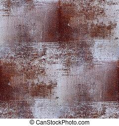 arrière-plan brun, papier peint, seamless, texture, fer, rouille
