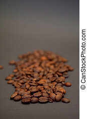 arrière-plan brun, rôti, café
