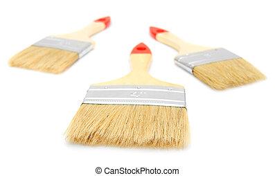 arrière-plan., brushes., blanc