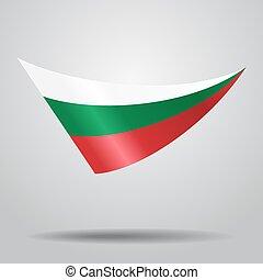 arrière-plan., bulgare, vecteur, drapeau, illustration.
