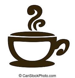 arrière-plan., café, vecteur, tasse blanche
