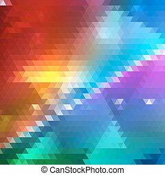 arrière-plan., clair, triangle, géométrique, coloré