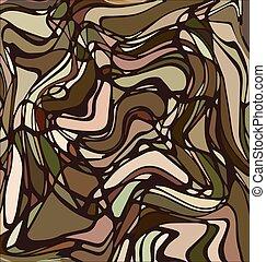 arrière-plan coloré, beige, image, lignes, résumé, ornement, brun