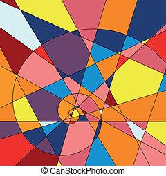 arrière-plan., coloré, mosaïque, clair