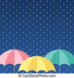 arrière-plan., coloré, parapluies