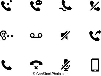 arrière-plan., combiné, blanc, icônes