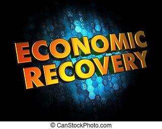 arrière-plan., concept, économique, récupération, numérique