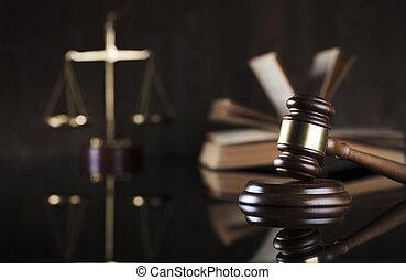 arrière-plan., concept, droit & loi