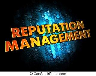 arrière-plan., concept, gestion, réputation, numérique