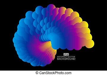arrière-plan., conception abstraite, coloré