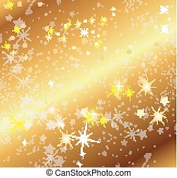 arrière-plan doré, étoiles