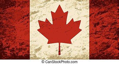 arrière-plan., drapeau, grunge, canadien