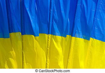 arrière-plan., drapeau national, ukrainien