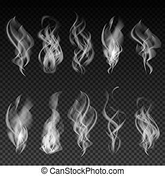 arrière-plan., ensemble, isolé, fumée, transparent