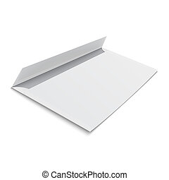 arrière-plan., enveloppe blanche, vide