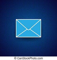 arrière-plan., enveloppe, courrier, numérique