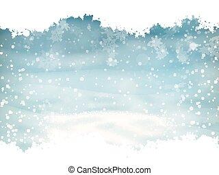 arrière-plan., eps, paysage neige, 10