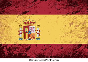 arrière-plan., flag., grunge, espagnol