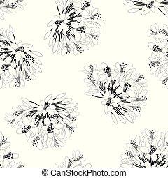 arrière-plan., fleur blanche, agapanthus, seamless