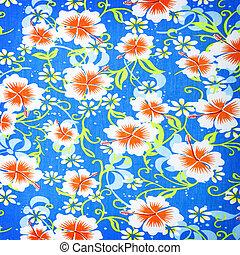 arrière-plan., fleurs, tissu